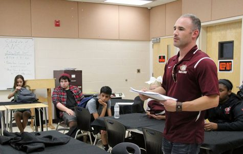 New theater teacher Mr. Joshua Ansley looks to create professional student-run program