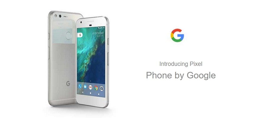 The silver version of the Google Pixel from the Made by Google website. CC BY-SA 4.0