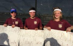Men's varsity tennis team wins league for the first time