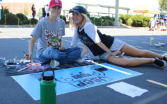 Seniors paint their parking spot to kick the year off