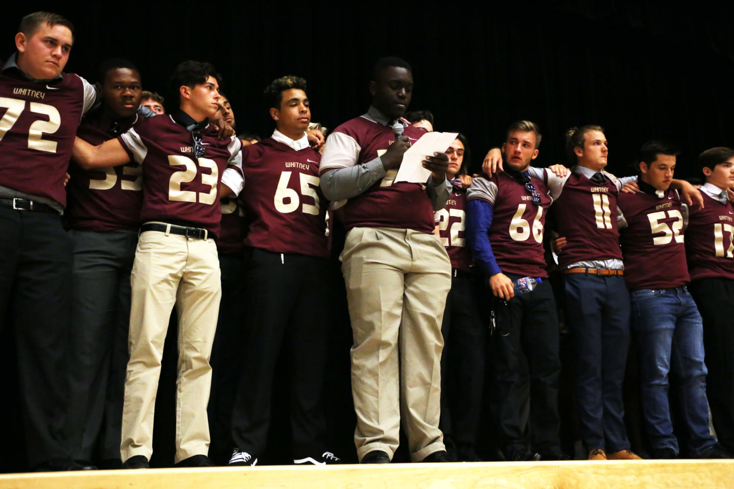During the meeting Aug. 20, Xzavier Caldwell and the football program gave a speech to voice their opinions.