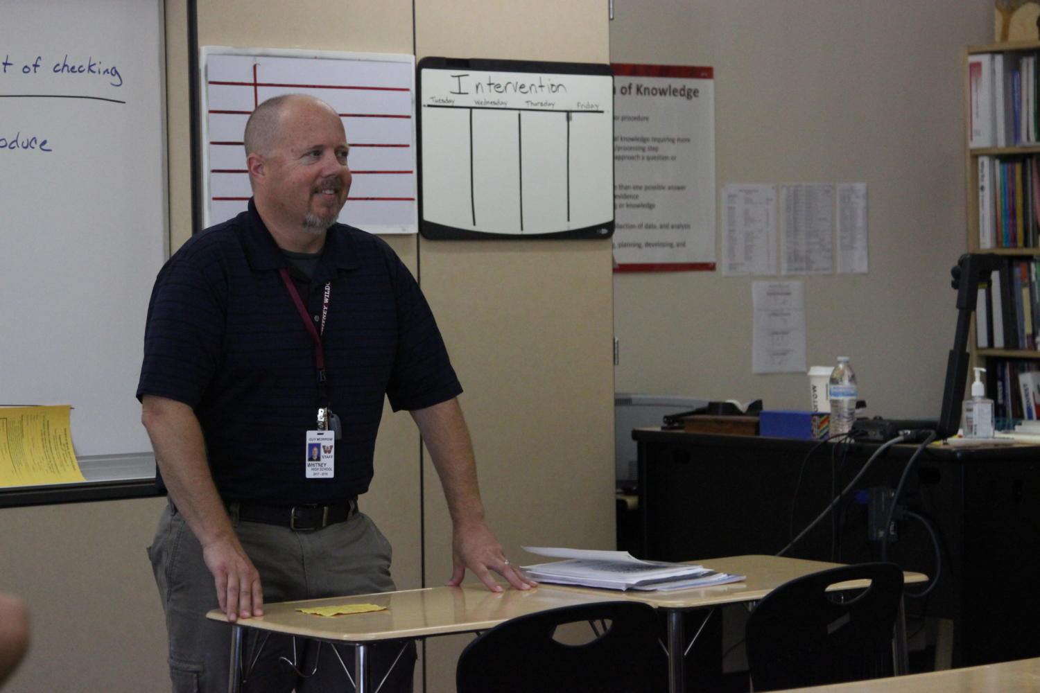 During eighth period study skills, Mr. Guy Morrow talks about peer pressure.