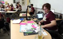 Middle school teacher takes on high school challenge