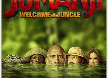 Another exciting thriller, this time it's the new 'Jumanji: Welcome to the Jungle'