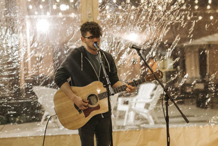 At Bayside Church, Seth Kaminsky performs his song