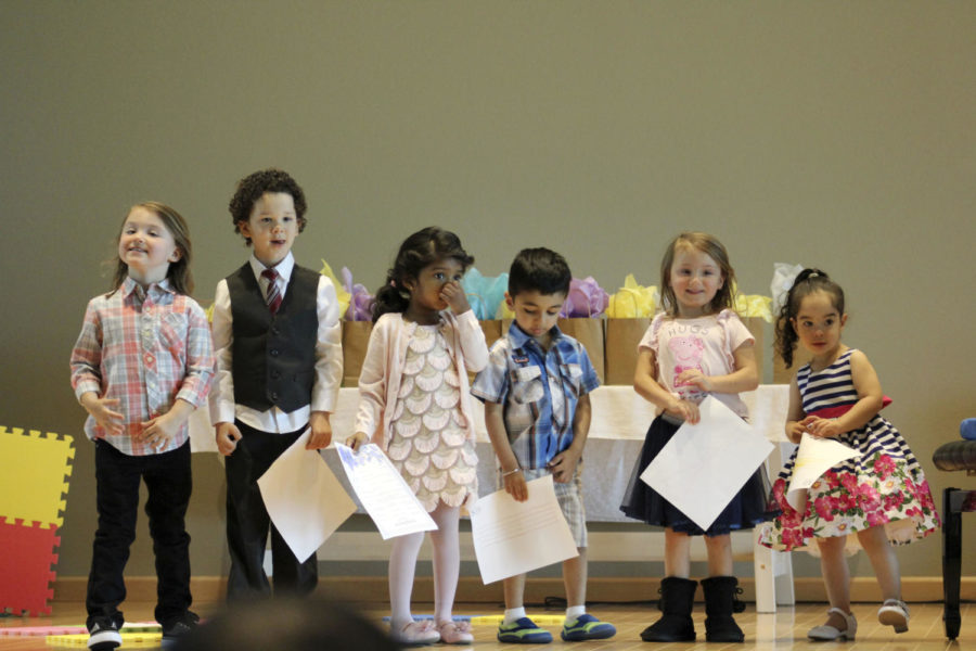 YOUNG EXPLORATION. Following their special stage, six young students receive certificates and recognition for embarking upon their beginning piano-study journeys. Each student played a self-composed piece and performed rhythmic compositions.