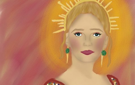 "Celebrities such as Blake Lively donned ""Catholic-inspired"" clothing. Illustration by Izzie Bartholomew."