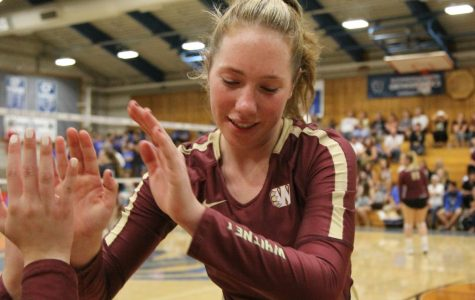 Women's varsity volleyball faces Rocklin for league championship, falling in three sets