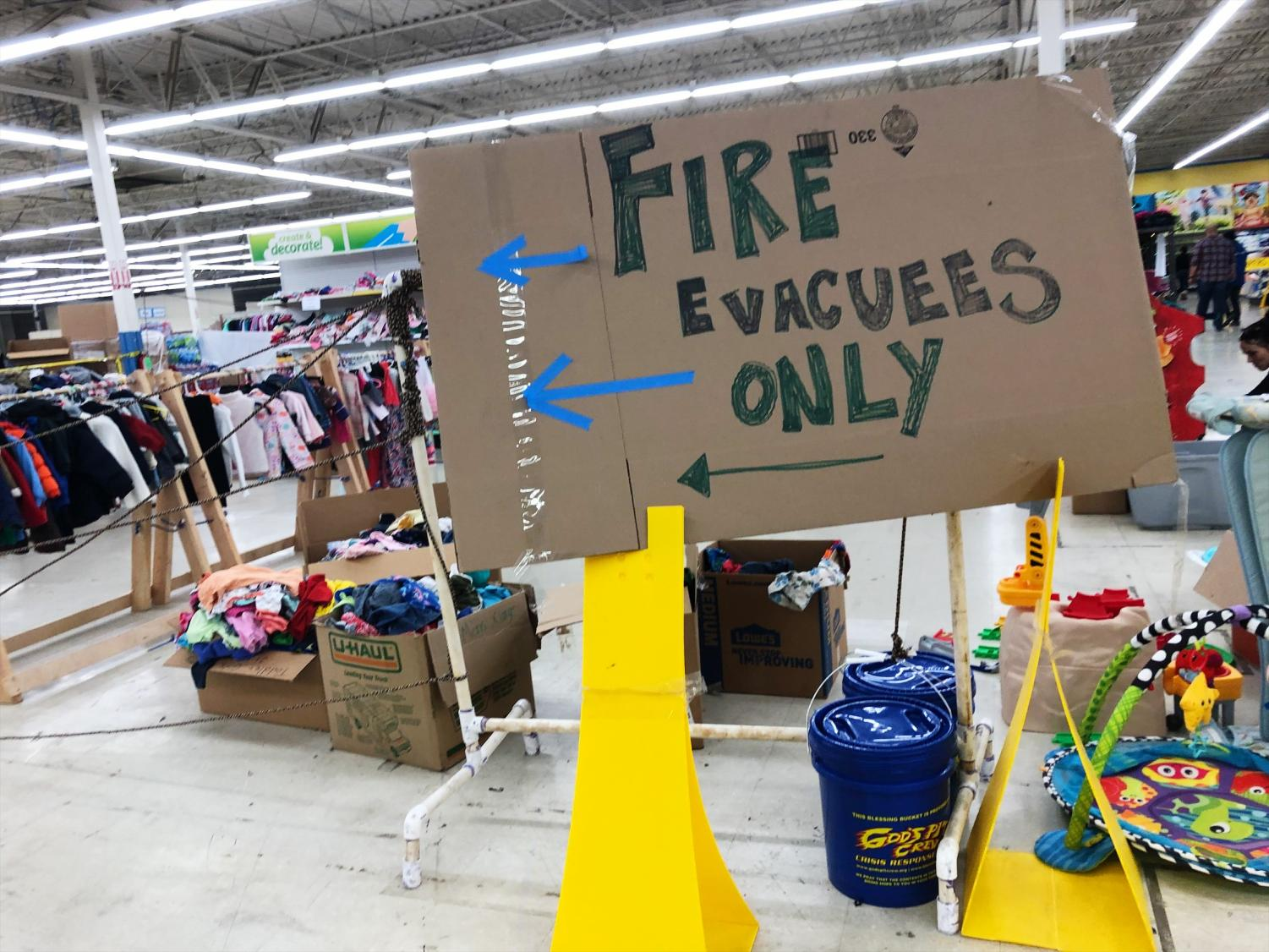 The fire evacuees had the option to go to a support group led by a preacher to help restore their faith after losing everything from the fire.