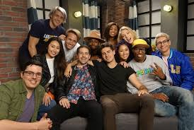 Cast members of the Smosh family pose for a picture. Smosh used to be a YouTube channel, that uploaded sketch comedy videos. Photo by Wikipedia, used with permission