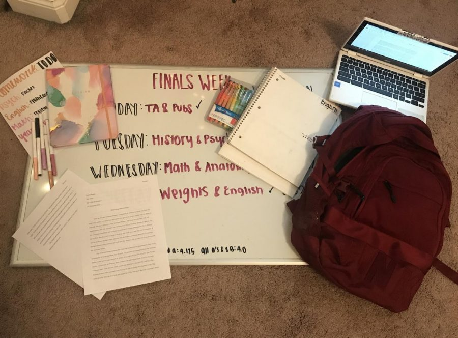 Students cram as much as they can prior to possibly eight finals. Photo illustration by Emily Pontes.