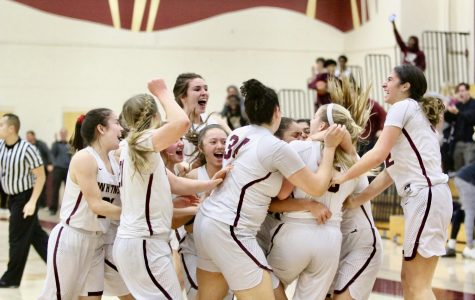 Varsity women's basketball celebrates Senior Night with close win