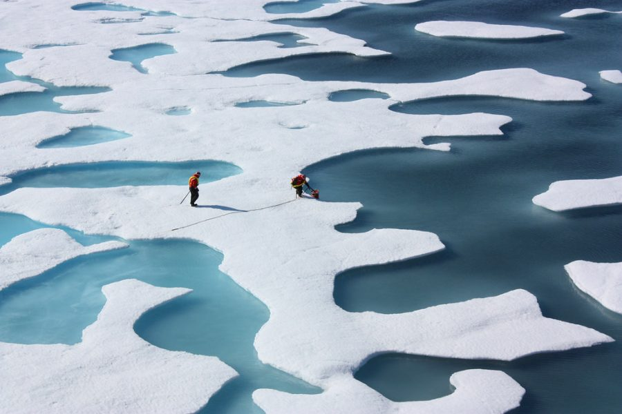 As global temperatures rise, ice caps continue to melt which is detrimental to the environment. Source: Creative Commons/NASA