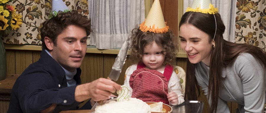 Played+by+Zac+Efron+and+Lily+Collins%2C+Ted+Bundy+and+Liz+Kloepfer+celebrates+the+second+birthday+of+Kloepfer%E2%80%99s+daughter+after+the+scene+of+the+couple+committing+to+their+relationship.+Photo+from+Voltage+Pictures%2C+used+with+permission+under+fair+use.+
