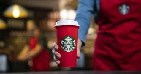 By using reusable cups and water bottles, students can gradually decrease the 8 trillion pieces of plastic wasted per year, according to Forbes. Picture from Starbucks, used with public domain.