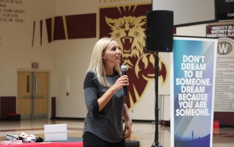 Leadership kicks off Suicide Prevention Week with assembly from Erin Weidemann