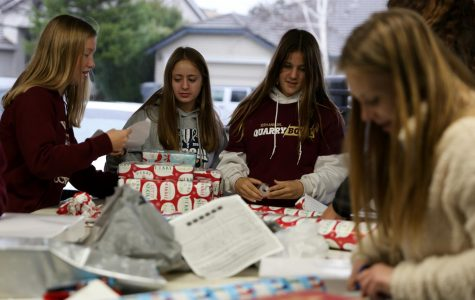 Women's soccer teams donate, wrap gifts for Pete's Christmas Walk Through