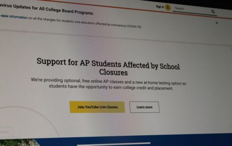 Screenshot April 2 of College Board website's front page