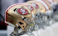 Helmets of the San Francisco 49ers. Photo by NinersWire, image used with permission.