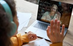 In the current distance learning model, students sign into four different online classes each day using Zoom or Google Meet.