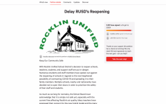 "Screenshot of the ""Delay RUSD's Reopening"" petition Sept. 16 at 2:12 p.m."