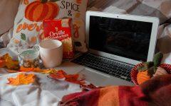 Fall movie setup at home