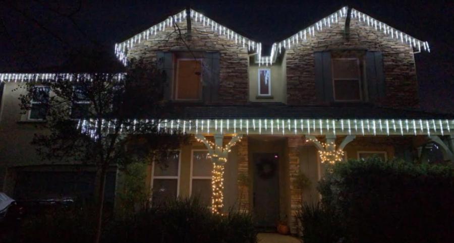 Ryan Dulai's Christmas lights. Photo by Ryan Dulai